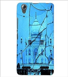 PrintDhaba Taj-Mahel D-2843 Back Case Cover for LENOVO A6000 PLUS (Multi-Coloured)