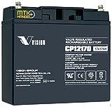 VISION CP12170 / 12V 17Ah AGM Blei Akku Batterie VDS
