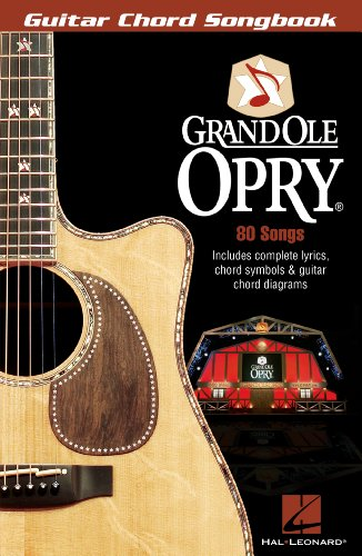 Grand Ole Opry  Songbook: Guitar Chord Songbook (English Edition)
