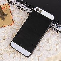 Malloom® Donna Specchio Diamante Lusso Bling Indietro Strass Custodie Cover per iPhone 6 6S Plus 5.5 inch (Nero)