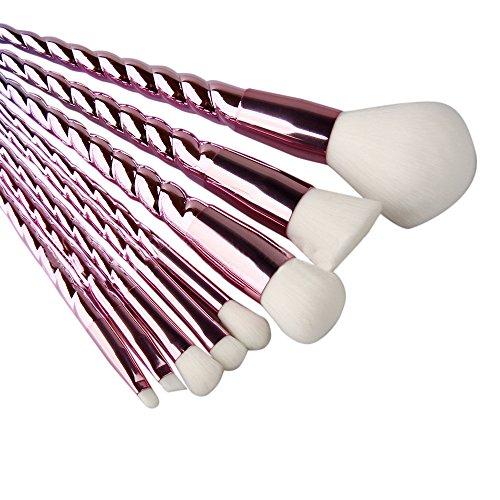 Bande Vis Maquillage Pinceau Ensemble X 8Pcs----HUI.HUI Pinceaux Sets Maquillage Brosse Make Up Pour Beauté Premium Fondation Mélange Blush Les LèVres Yeux Visage Poudre Cosmétiques (Noir)