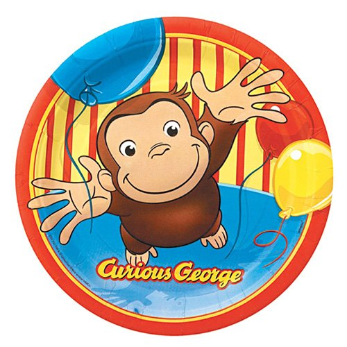 Image of Curious George 9 Plates [8 Per Pack]