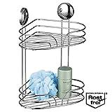 Serie de baño bremermann® Moon-Loc cesta para ducha tipo estantería en esquina con dos cestas