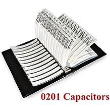OneSky-UK [0201] condensadores (0.5pf-220nf) SMD chip Surtido Kit 51 valor condensador muestra carpeta [2500 pcs]