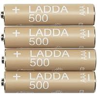 Ikea LADDA Akkus aufladbar; 500; HR03 AAA 1.2V; 4 Stück preisvergleich bei billige-tabletten.eu