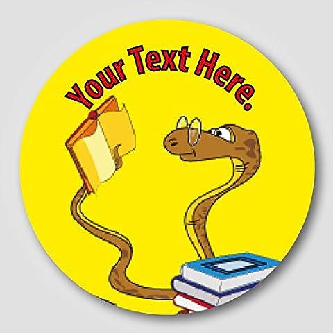 48 30mm Personalised 'Book Worm' Children's School Reading Reward Stickers