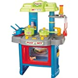 Spielküche Kinderküche Kinder Herd Küche 29 Teile 60cm Backofen Licht und Ton