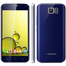 "Landvo S7 - Smartphone libre Android (Pantalla 5.0"", 16GB ROM, 1GB RAM, Quad-Core 1.3GHz, Camara 5.0 Mp, Dual SIM, GPS, WIFI), Azul oscuro"