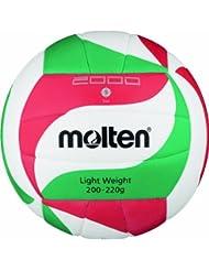 Molten  Ball Molten Top Training Volleyball Gr. 5, Weiß/Grün/Rot, 5, V5M2000-L