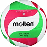 Molten Ball Top Training Volleyball Gr. 5, Weiß/Grün/Rot, 5, V5M2000-L
