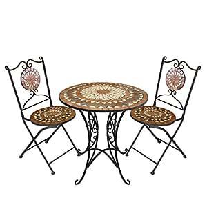 Multistore 2002 3tlg mosaico mobili da giardino terrazzo for Mobili x terrazzo