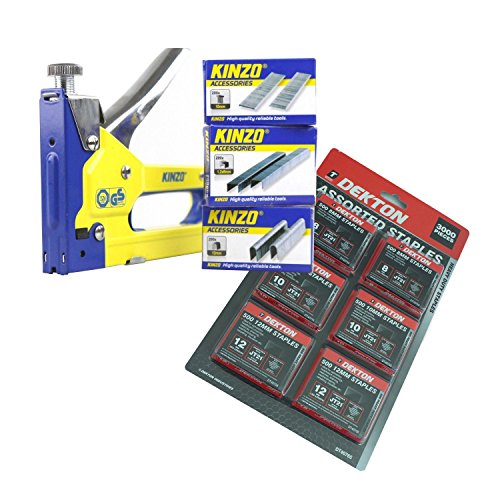 Kinzo Heavy Duty 3 en 1 main Staple & Nail Gun + 3600 agrafes