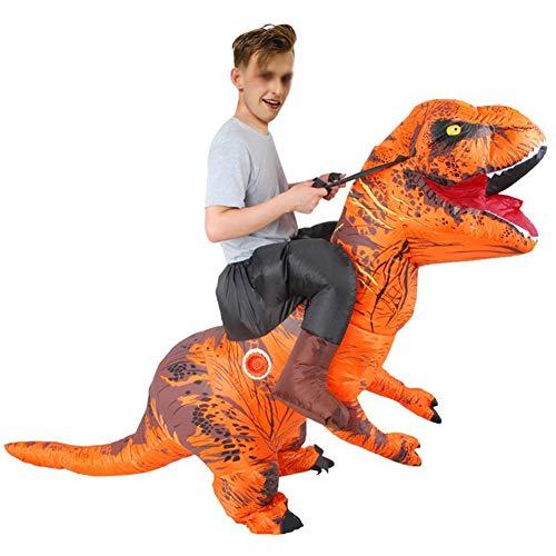 XXLLQ Aufblasbares KostümRitt auf Dinosaurier Karnevalskleid Halloween Erwachsene aufblasbare Dinosaurier-Partei-Kostüm Lustige Kleid A Inflatable Costume Party Fancy Dress Cosplay,2