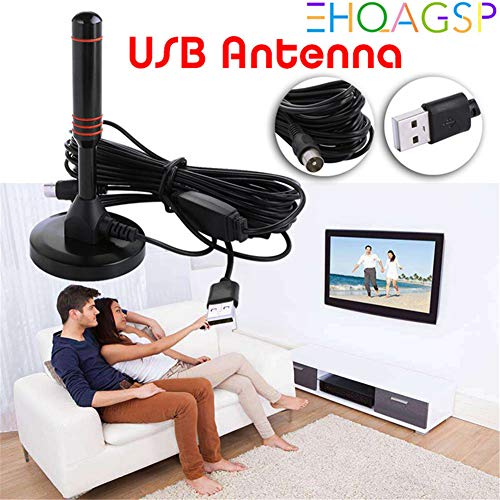 CRZJ TV Antenne HD, Home HD-Bodenwellenantenne, Ausgezeichnete Freeview- und analoge Signalfunktionen. Schwarz