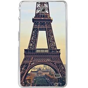 Casotec Eiffel Tower Design 2D Hard Back Case Cover for Samsung Galaxy Tab 4 7 inch - Clear