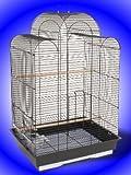 Jaula-de-Pjaros-negro-Bijou-Budgie-Canario-Lovebirds-Finches