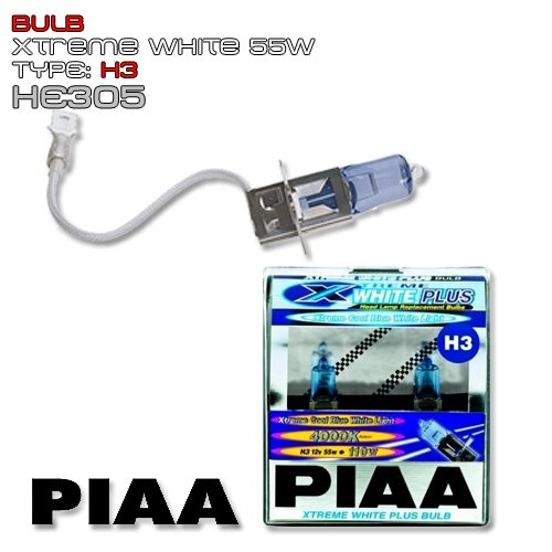 PIAA Xtreme Bianco Piu Lampadina H3 55W pari a 110W - Pair PN: HE305