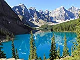 Fototapete Moraine Lake Kanada 350cm Breit x 260cm Hoch Vlies Tapete Wandtapete - Tapete - Moderne Wanddeko - Wandbilder - Fotogeschenke - Wand Dekoration wandmotiv24