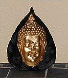 Buddha-Kopf im Bodhi-Blatt - mit 3D...