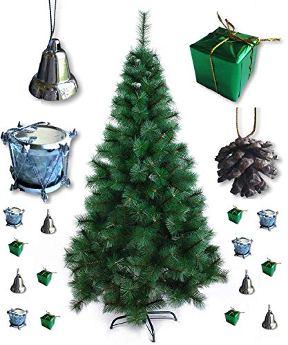 Theme My Party Christmas Pine Tree with Decoration 40 Pieces (5ft Tree)