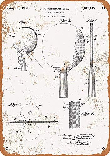 LAUGH WELL Table Tennis Paddle Patent de métal Affiche rétro d'art en métal Peint décoration Plaque Plaque d'avertissement Bar café Garage Partie Salle de Jeu décoration de la Maison