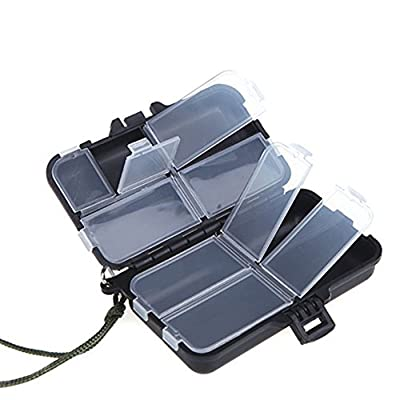 Sungpunet Mini 9 Compartments Fishing Lures Spoon Hooks Baits Hook Tackle Plastic Storage Box Case by PHTL