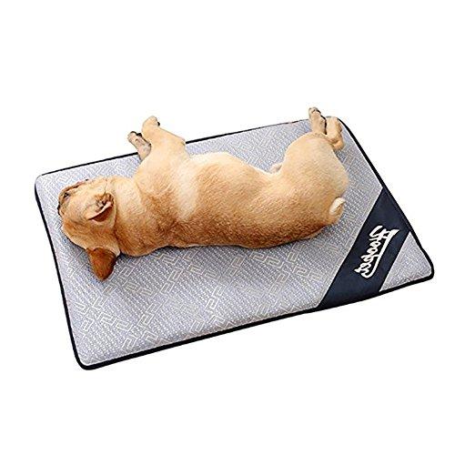 iBaste Kühlmatte für Hunde Matte Pads Pet Cooling Mat Betten mit selbstkühlendem Kühlgel Matte für Hundeboxen Zwinger-XL/120cmx73cm