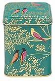 Elite tins Sara Miller Birds Green Square Tin