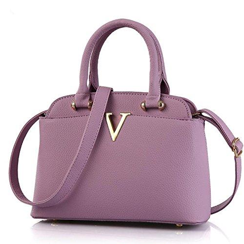 pu-pelle-moda-fresco-piccolo-medie-shell-borsa-borse-tracolla-messenger-purple
