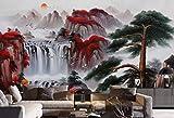 HONGYUANZHANG Mode Und Naturlandschaft Benutzerdefinierte 3D-Fototapete Künstlerische Landschaft Tv Hintergrundbild,24Inch (H) X 32Inch (W)