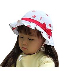 Tyidalin Chapeau de Soleil Bébé Fille Anti UV Plage Voyage Bonnet en Coton  à Fleur Floral Printemps Eté… b56169e6595