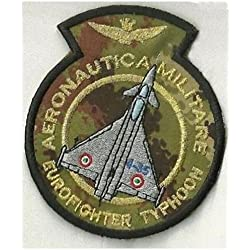 Patch Aeronautica Militar – Eurofighter fondo militar cm 8,5 x 10 bordado -244