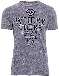Ternua Anfor Camiseta, Hombre, Negro (Whales Grey), XXL