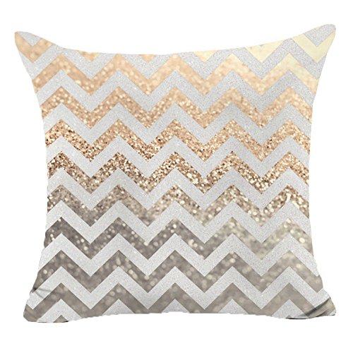 pu ran Flügel Buchstaben Star Shining Bedruckt Wurf Sofa Kissenbezug Kissenbezug Home Decor - Gold Shining Wave -