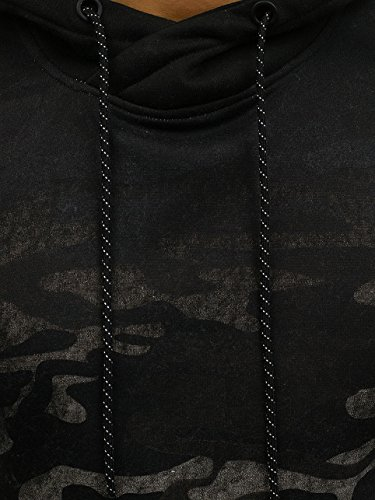 BOLF Herren Pullover mit Kapuze Sweatshirt Langarmshirt Sweatjacke Militär Army Camo Muster 1A1 Grau_DD134-1