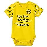 BVB 09 Borussia Dortmund Nur der BVB Babystrampler Babybody (86/92, gelb)