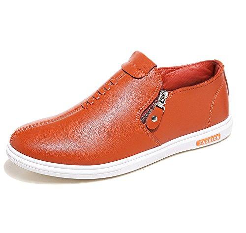 Slip Low Orange Freizeit Für Reißverschluss Sneaker Turnschuhe Bequeme Flach Männer top on qwA4EZPEI