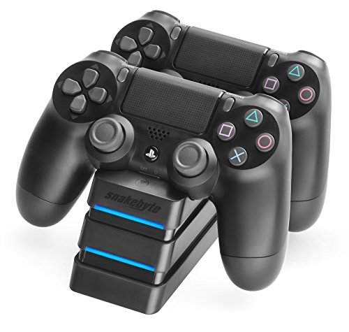 snakebyte Twin Charge Ladegerät - Twin Docking Station zum aufladen von 2 Dualshock 4 Controllern [PlayStation 4]