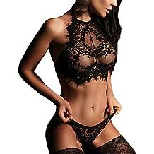 dessous Vovotrade ✿✿ Mode Frauen Charming Dessous Spitze Blumen Push Up Top Bh Hosen Unterwäsche Set