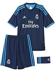 adidas 3ª Equipación Real Madrid CF SMU Mini - Conjunto, color negro / azul, talla 98