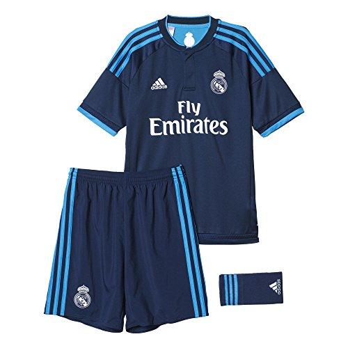 adidas Real Madrid Mini-ensemble pour enfant – Tenue d'entraînement, Enfant, Mini-bekleidungsset Real Madrid Trainingsausrüstung, Night Indigo/Bright Blue