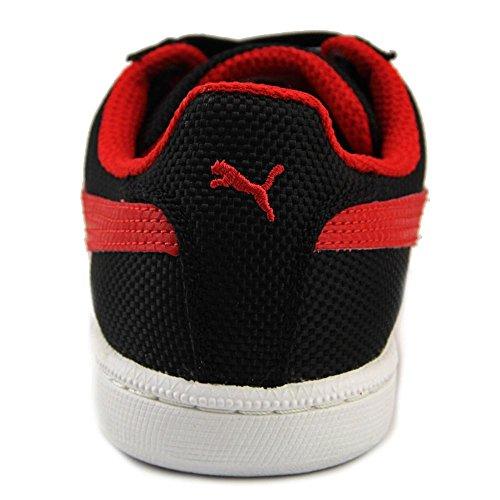 Puma Smash Ripstop Maschenweite Turnschuhe Black/High Risk Red