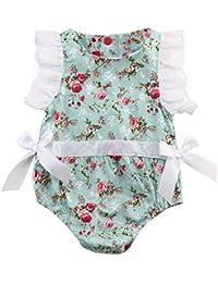 SMARTLADY Niñas bebé ropa Encaje Floral Mono Bodysuit