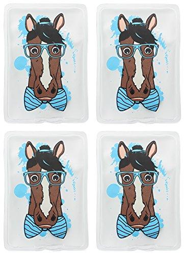MIK funshopping Hand- & Taschenwärmer 4er Set Nerdy Hipster Horse