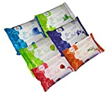Origami So Soft Wet Wipes - 25 wipes per pack - 6 packs - Total 150 wipes - Assorted Flavours