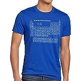 style3 Sheldon Periodensystem Herren T-Shirt, Größe:L;Farbe:Blau