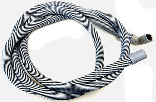 Tubo scarico 90° PIPA lavatrice lavastoviglie 19 22 cm 150 m 1,5 flessibile in PP COPO c/pipa