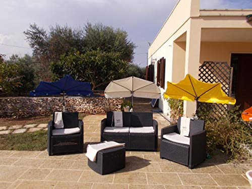 Sunbrella-sonnenschutz (Holly FÄCHERSCHIRM - Liege-Stuhl - Sunbrella SALENTO - UV Schutz UPF 40 + - Farben AUF ANFRAGE - MIT 360 ° EDELSTAHLHALTERUNG - Befestigung bis 40 mm Ø - IT Fächerschirme Video -)
