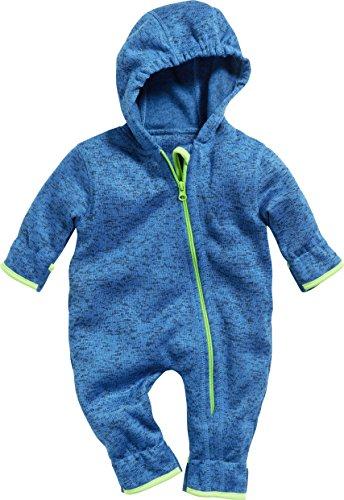 Playshoes Unisex Baby Strickfleece Overall Schneeanzug, (Blau 7), 80 -