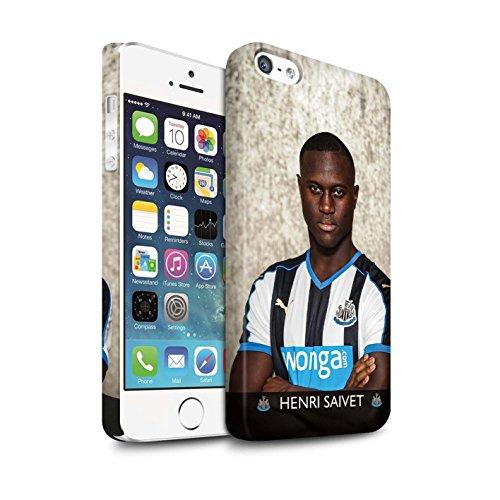 Officiel Newcastle United FC Coque / Clipser Matte Etui pour Apple iPhone 5/5S / Tioté Design / NUFC Joueur Football 15/16 Collection Saivet
